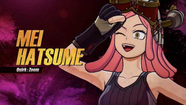MY HERO ONE'S JUSTICE 2: Action-Packed Gameplay Trailer For Mei Hatsume Released As She Joins The Roster Today